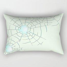 Bullet Holes in Glass Rectangular Pillow