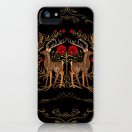 Two Stags Protecting The Dark Forest Gate iPhone Case