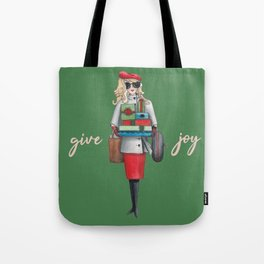 Give Joy for the holidays watercolor Tote Bag
