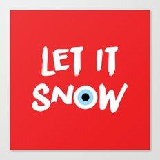 let it snow (evil eye) Canvas Print