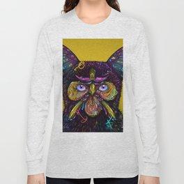 CAT-BUTTERFLY-BIRD-FLOWERS Long Sleeve T-shirt