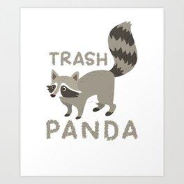 Raccoon Funny Art Print