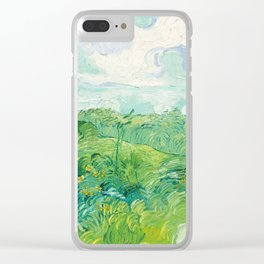 Green Wheat Fields - Auvers, by Vincent van Gogh Clear iPhone Case