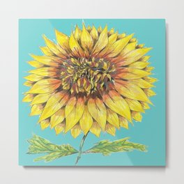 Sunflower Magic Metal Print
