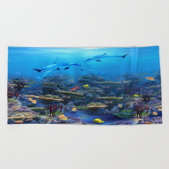 Lost Ocean Beach Towel