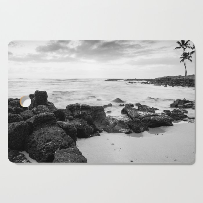 Dramatic coastline at Poipu beach in Kauai, Hawaii Cutting Board