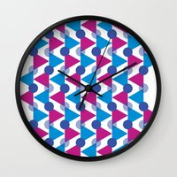 bows Wall Clocks featuring Bows by Emely Vertiz