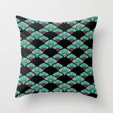 Turquoise Night Throw Pillow