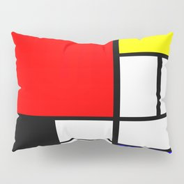 Mondrian Art Pillow Sham