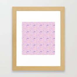 Intersecting Lines in Pink, Peach and Lavender Framed Art Print
