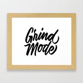 Grind Mode: On Framed Art Print