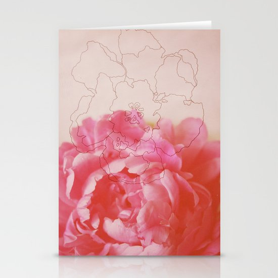 pink milk Stationery Cards