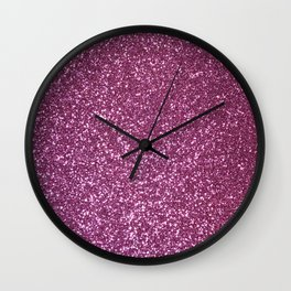 Pink Lavender Glitter with Silvery Highlights Wall Clock