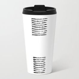 Black striped windows Travel Mug