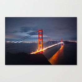 Golden Gate Bridge at Night | San Francisco, CA Canvas Print