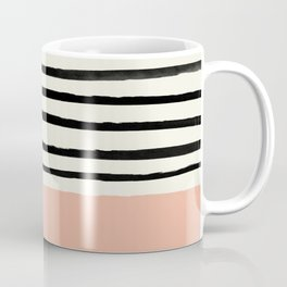 Peach x Stripes Coffee Mug