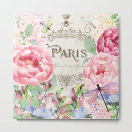 Paris Flower Market III Metal Print