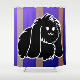A black bunny Shower Curtain