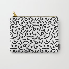 squiggly 80s white Carry-All Pouch