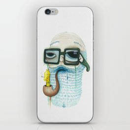 Old Man Smoking Giraffe Pipe iPhone Skin