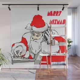 Merry Mixmas Christmas Party Santa DJ Wall Mural