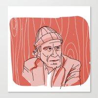 bukowski Canvas Prints featuring Bukowski by baskervillain