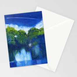 Blue Fountain Perseid Stationery Cards