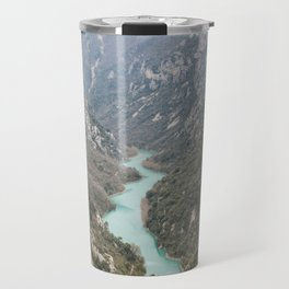 Blue river through the French mountains Travel Mug