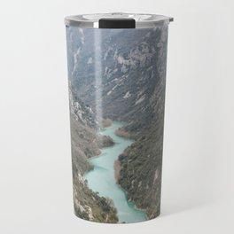 Blue river through the French mountains Travel Mug