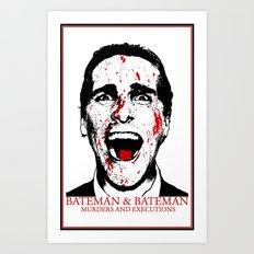 AmericanPsycho-Bateman&Bateman Art Print