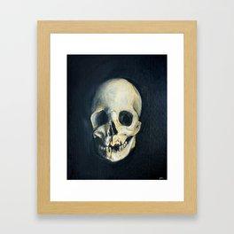 Human Skull Painting Framed Art Print