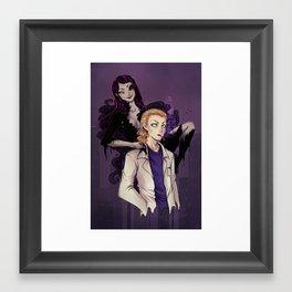 Doctor and Plague Framed Art Print