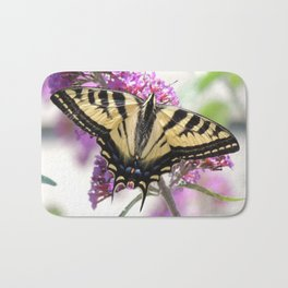 Western Tiger Swallowtail on the Neighbor's Butterfly Bush Bath Mat