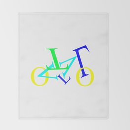 bicycle letters Throw Blanket