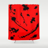 blood Shower Curtains featuring Blood by Holy Spoof