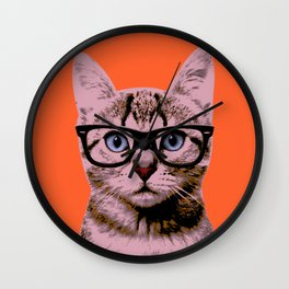 Warhol Cat 2 Wall Clock