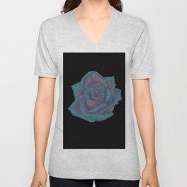 Turquoise Rose Unisex V-Neck