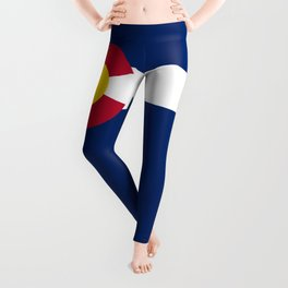Colorado flag - High Quality image Leggings