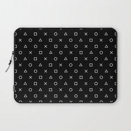 Gamer Pattern (White on Black) Laptop Sleeve