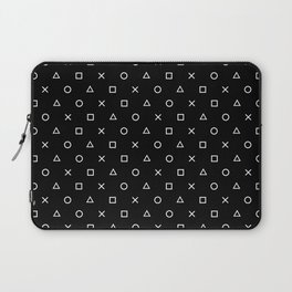 Gamer Pattern (White on Black) Laptop Sleeve