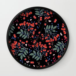 wild berries Wall Clock
