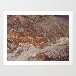 Owakudani Landscape in Hakone Japan Art Print