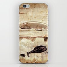 paper II :: whales/ships (red) iPhone & iPod Skin