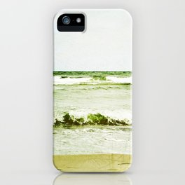 emerald waves iPhone Case