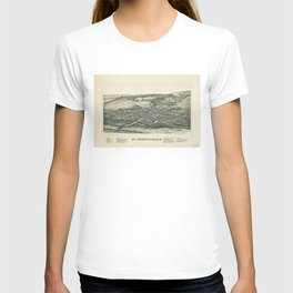 Aerial View of St. Johnsville, New York (1890) T-shirt