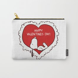 Snoopy Happy Valentine's day Carry-All Pouch