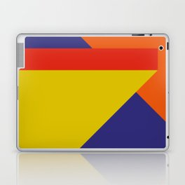 Random colored parallelepipeds flying in a cool blue space Laptop & iPad Skin