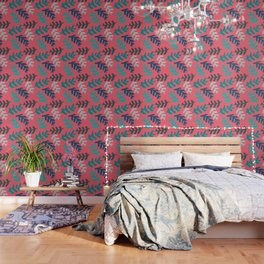 Tropical Leaf Print Wallpaper