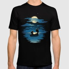Oceans Black SMALL Mens Fitted Tee