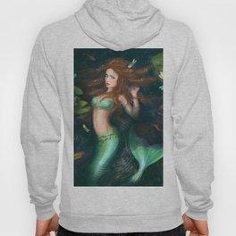 Beautiful Fantasy mermaid in lake with lilies Hoody